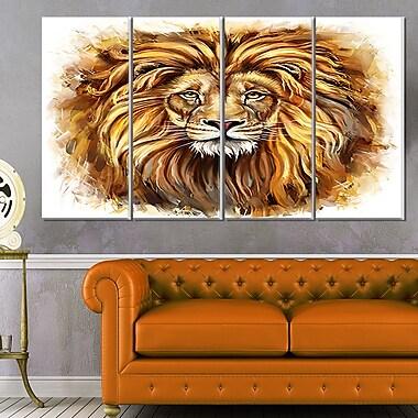 Art mural en métal le roi en colère de la forêt animale