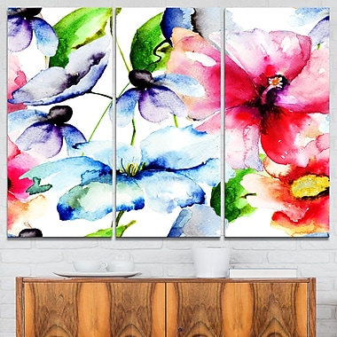 WaterColour Flowers Everywhere Floral Metal Wall Art