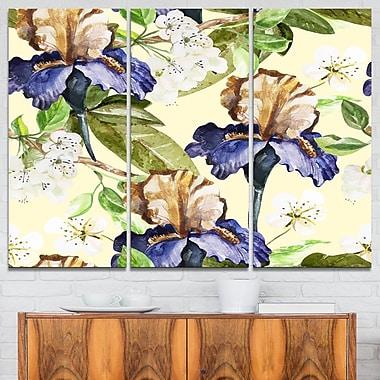 Seamless Flowers Vector Art