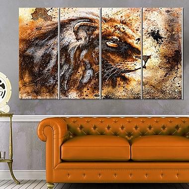 Art mural en métal, collage de lion