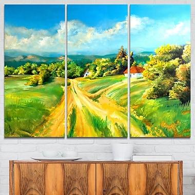 Art mural en métal, paysage, les couleurs de l'été