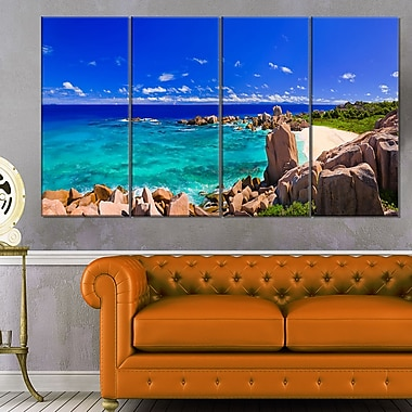 Tropical Beach Panorama Seascape Photo Metal Wall Art