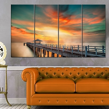 Wooden Pier Landscape Photo Metal Wall Art