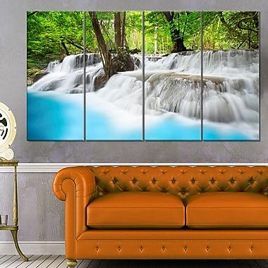Art mural en métal, cascade Erawan, photographie