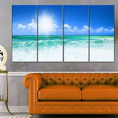Art mural en métal, magnifique plage bleue, paysage marin, photographie