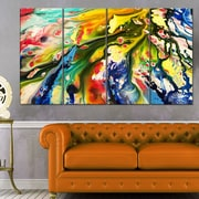 Mixed Oil Colour Texture Abstract Metal Wall Art
