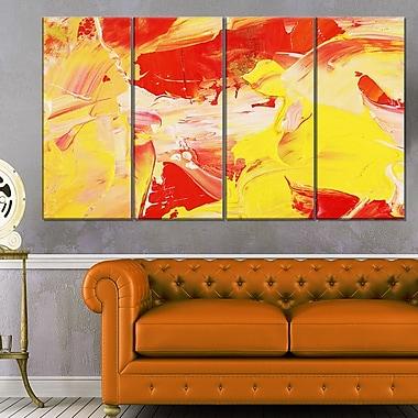 Art abstrait jaune et rouge