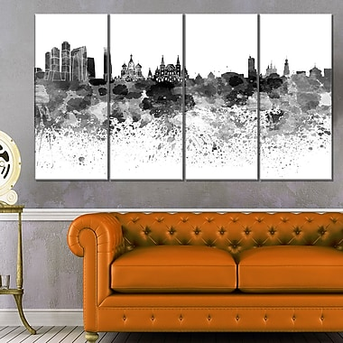 Moscow Skyline Cityscape Metal Wall Art