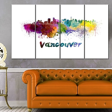 Vancouver Skyline Cityscape Metal Wall Art