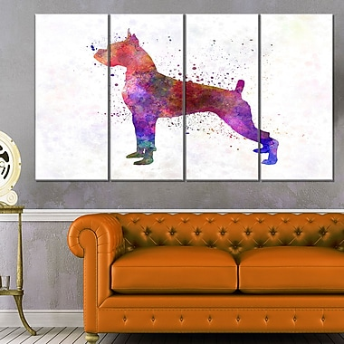 Boxer in WaterColour Animal Metal Wall Art