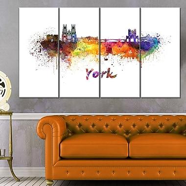 Art mural en métal horizon de la ville de York