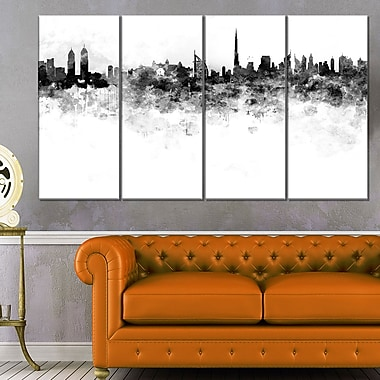 Dubai Skyline Cityscape Metal Wall Art