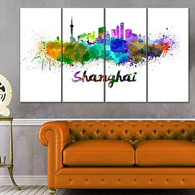 Shanghai Skyline Cityscape Metal Wall Art