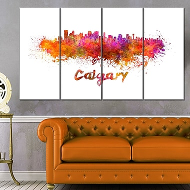 Calgary Skyline Cityscape Metal Wall Art