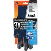 Ansell – Gants en Kevlar, mousse de nitrile, résistance aux coupures ANSI niveau 4, 6 paires/paquet (104908)