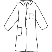 Dupont Personal Protection Lab Coat Proshield, Blue, Snap Front 2 Pockets, 30/Pack (PB212SBU3X003000)