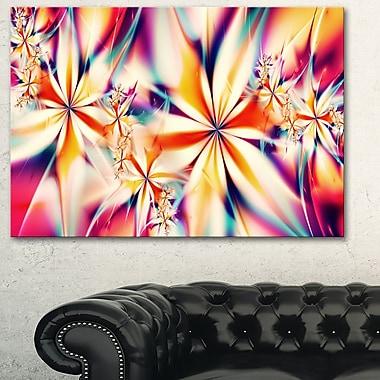 Art mural en métal à thème floral, fleurs roses cristallisées