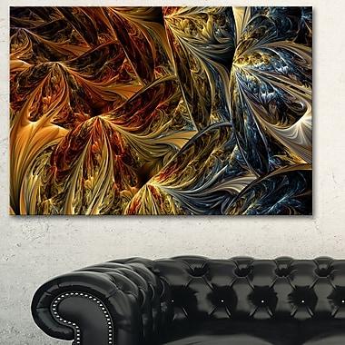 Art mural abstrait en métal, le bleu contre le rouge