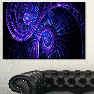 Art mural en métal, rêve royal violet et bleu