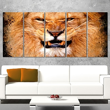 Angry Lion Animal Metal Wall Art