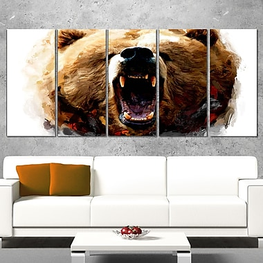 Warning Roar Animal Metal Wall Art