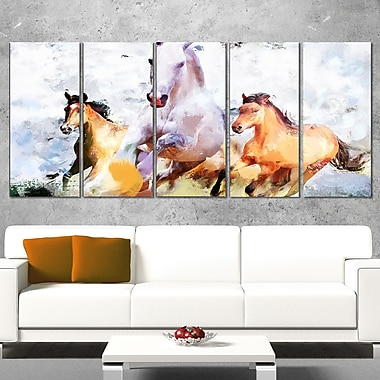 Galloping Together Animal Metal Wall Art