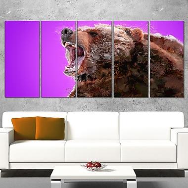 Art mural animal en métal, « attention à l'ours »