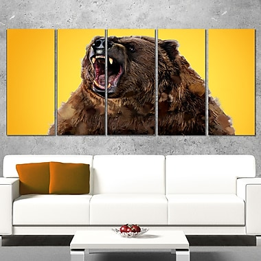 Art animal, grizzly féroce