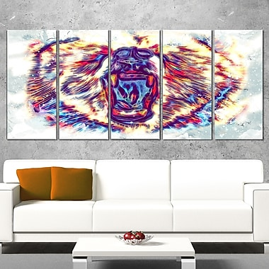 Bold Bear Animal Metal Wall Art