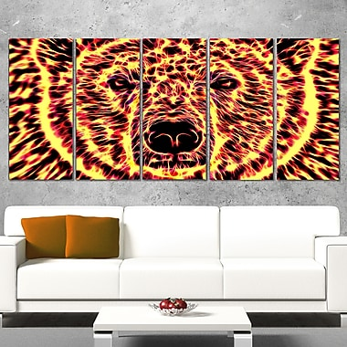 Psychedelic Bear Animal Metal Wall Art