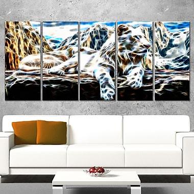 White Tiger Metal Wall Art