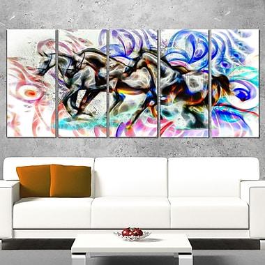 Art mural en métal, chevaux graffiti
