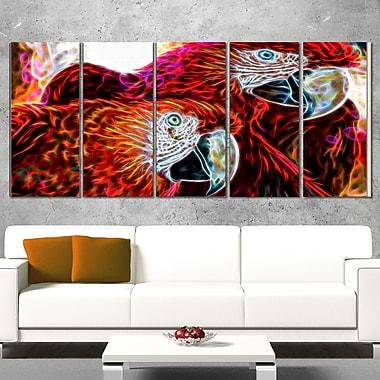 Art mural en métal, perroquets Ara