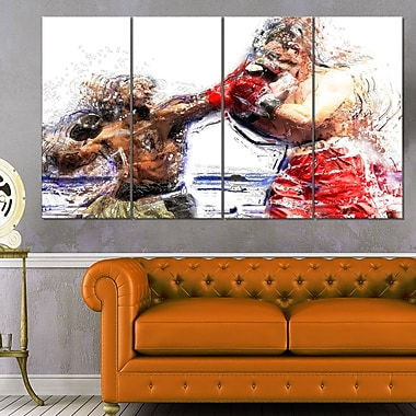 Art mural en métal, boxe, knock-out