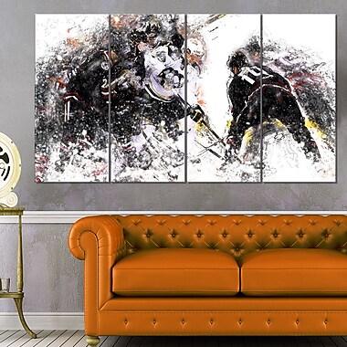 Art mural, hockey, mise au jeu