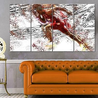Art mural en métal, sprint, équipe piste