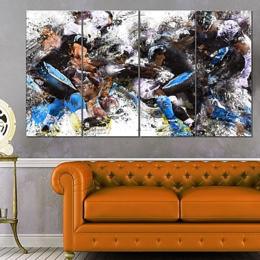 Football in Action Metal Wall Art