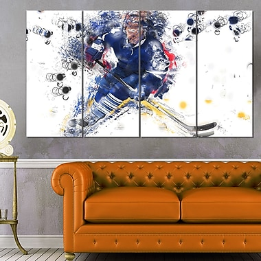 Hockey Penalty Shot Metal Wall Art