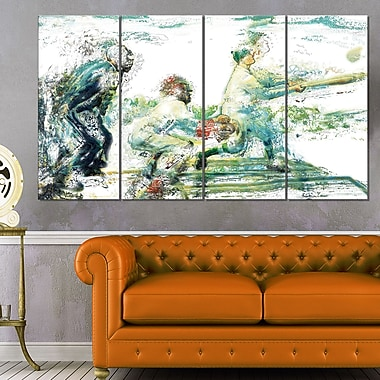 Baseball In Action Metal Wall Art