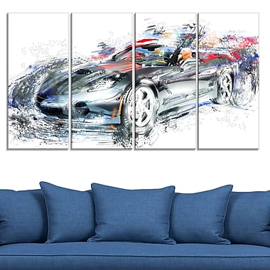 High End Luxury Car Metal Wall Art