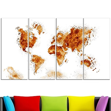 Honey Brown Map Metal Wall Art