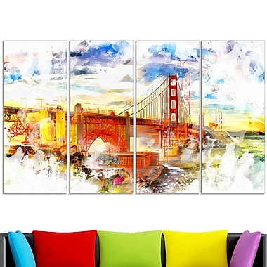 Colourfull San francisco Metal Wall Art
