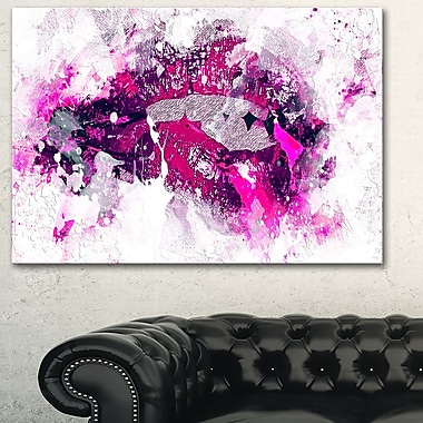 Pink and Purple LipsSensual Metal Wall Art