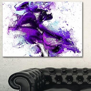 Purple KissSensual Metal Wall Art