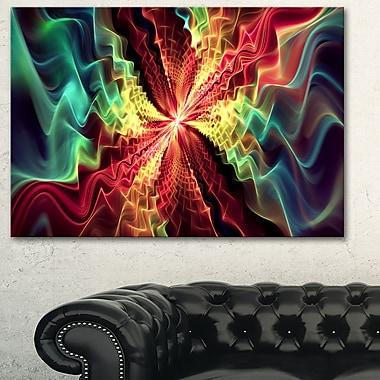 Art mural en métal abstrait hypnotisé
