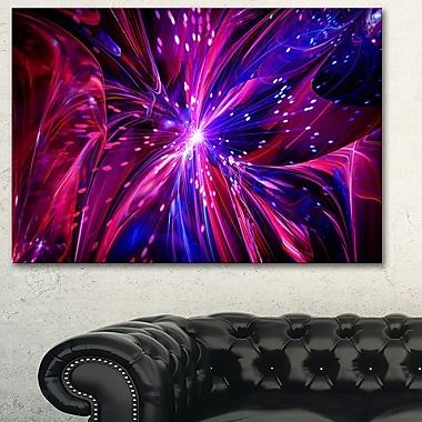 Art mural en métal, rêve devenu réalité rose et violet