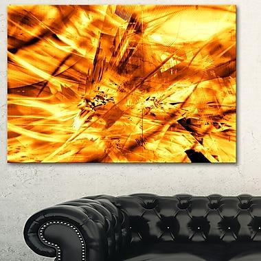 Art mural en métal, tempête de sable jaune