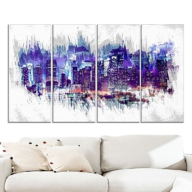 Midnight Cityscape Large Metal Wall Art