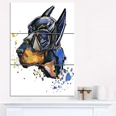 Art mural en métal à thème animal, Doberman Superman