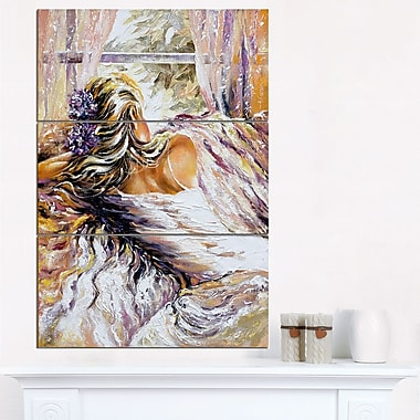 The River over the Girl Abstract Metal Wall Art